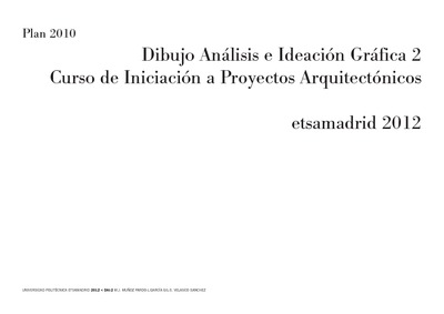Dibujo an lisis e ideaci n gr fica 2 iniciaci n for Proyectos arquitectonicos completos pdf