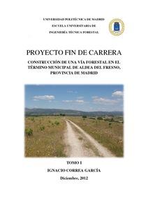 Proyecto de construcci n de una v a forestal en el t rmino for Proyecto vivero forestal pdf