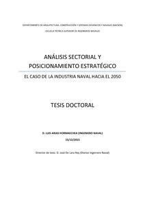 An lisis sectorial y posicionamiento estrat gico el caso for Arquitectura naval pdf