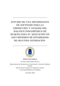 Estudio de una metodolog a de software para la predicci n for Arquitectura naval pdf