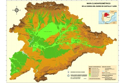 Cuenca Del Duero Mapa.El Mapa Clinohipsometrico Como Sistema De Mejora De La