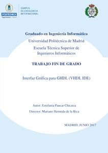 Interfaz gráfica para GHDL (VHDL IDE) - Archivo Digital UPM