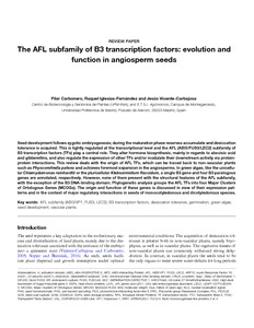 The AFL Subfamily of B3 Transcription Factors: Evolution and