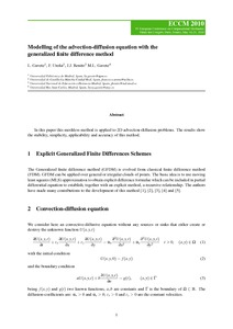 Modelling of the advection-diffusion equation with the