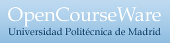 Logo de OpenCourseWare UPM