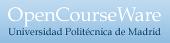 Logo de OpenCourseWare UPM